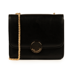 Petit sac noir en simili-cuir, IDEE REGALO, 155108225EPNEROUNI, 001 preview