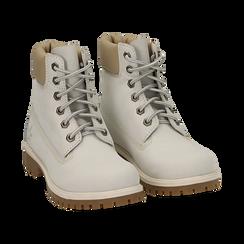 Scarponcini bianchi in nabuk, Promozioni, 16H220021NBBIAN, 002 preview