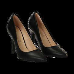 Escarpins noir en simili cuir, talon 11 cm , Primadonna, 152146861EPNERO036, 002 preview