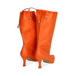 Bottes en cuir orange, talon de 7,5 cm, Primadonna, 17A506766PEARAN036, 003 preview