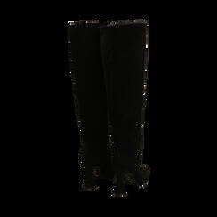 Stivali neri in microfibra, tacco 10 cm, Primadonna, 16G890321MFNERO035, 003 preview