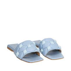 Zapatillas celeste de cuero, Primadonna, 17L602033PECELE035, 002a