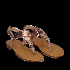 Sandali gioiello rosa in laminato, Primadonna, 134985111LMROSA036, 002a