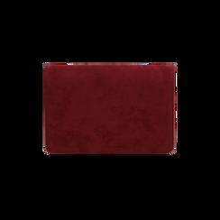 Borsa piccola bordeaux in microfibra , IDEE REGALO, 165122947MFBORDUNI, 003 preview