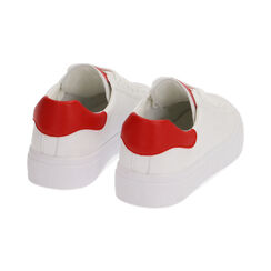 Baskets blanches / rouges, Chaussures, 172621209EPBIRO035, 004 preview