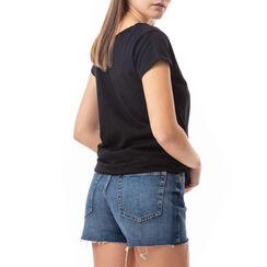 T-shirt noir à imprimé mode, Primadonna, 17I703005TSNEROL, 002a