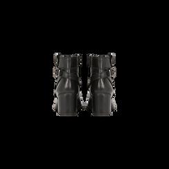 Tronchetti neri in vera pelle, tacco 5 cm, Primadonna, 128900310VINERO036, 003 preview