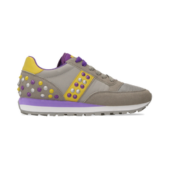 Sneakers grigie color block, Primadonna, 122618834MFGRIG035, 001 preview