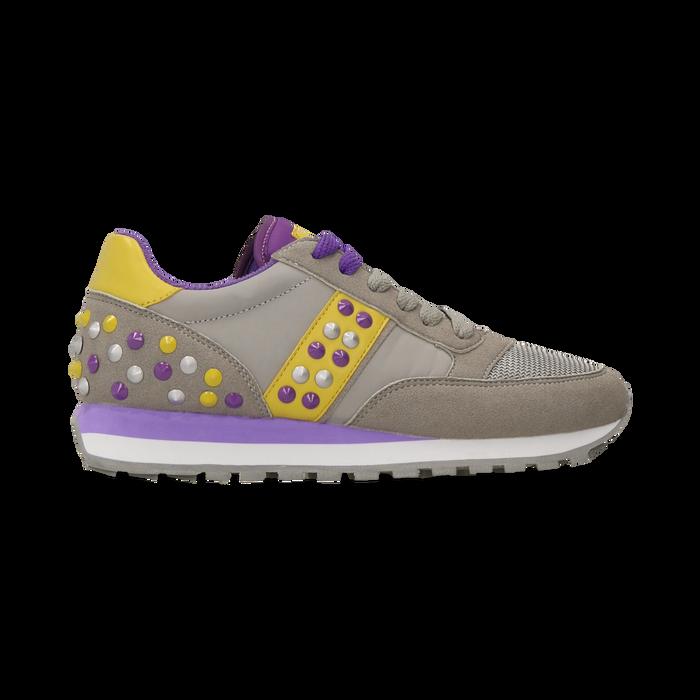 Sneakers grigie color block, Primadonna, 122618834MFGRIG035