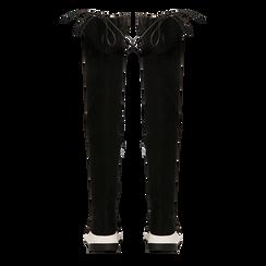 Sneakers overknee nere con suola bianca, Scarpe, 129367116MFNERO, 003 preview