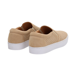 Slip-on beige in nabuk, Scarpe, 131572604NBBEIG036, 004 preview