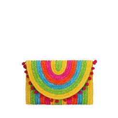 Pochette multicolor in paglia, Primadonna, 17J902029PGMULTUNI, 001a
