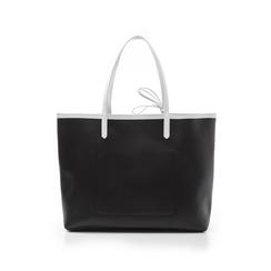 Maxi bag nero/bianca in eco-pelle, Primadonna, 133764106EPNEBIUNI, 003 preview