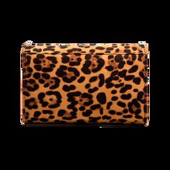 Borsa a tracolla leopard in microfibra, Borse, 123386501MFLEOPUNI, 002 preview