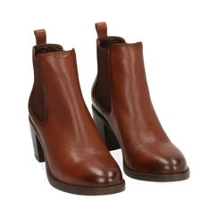 Ankle boots cuir, talon 4,50 cm, Primadonna, 169495750PECUOI035, 002 preview