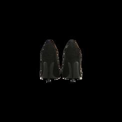 Décolleté nere con punta affusolata, tacco stiletto 7,5 cm, Scarpe, 122182083MFNERO, 003 preview