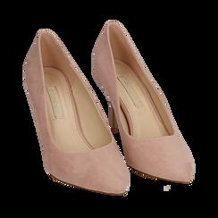 Décolleté en microfibra color nude, tacón 9 cm , Zapatos, 152182992MFNUDE036, 002 preview