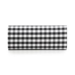 Clutch bianco/nera in tessuto stampa Vichy, Borse, 133308825TSNEBIUNI, 003 preview