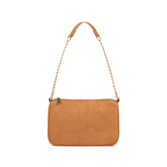Petit sac porté épaule marron en microfibre, Sacs, 155127201MFMARRUNI, 001 preview