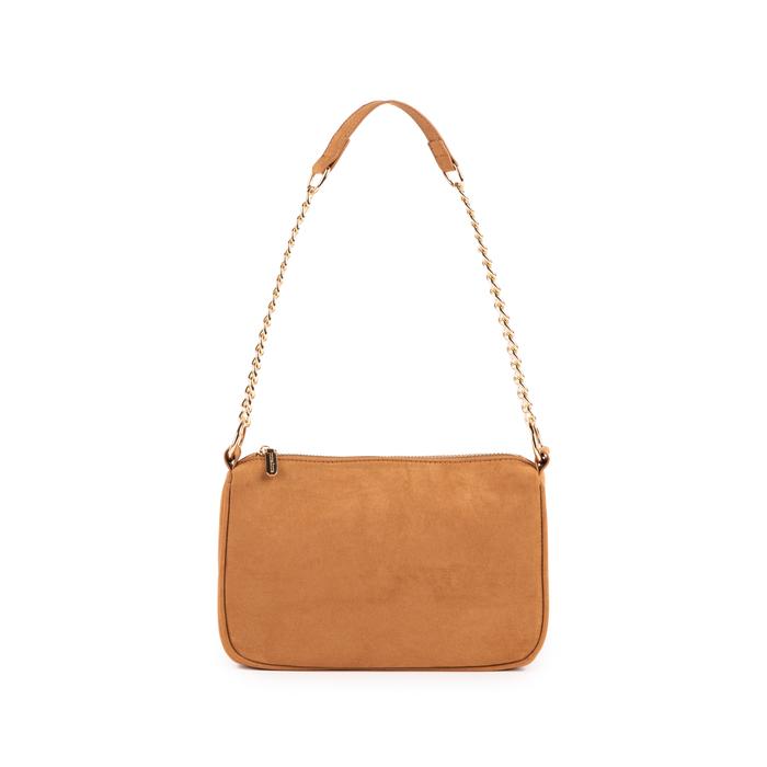 Petit sac porté épaule marron en microfibre, Sacs, 155127201MFMARRUNI