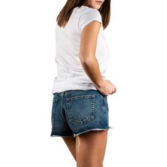T-shirt bianca in cotone con stampa, Abbigliamento, 15I700335TSBIANL, 002a