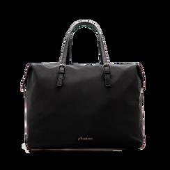 Borsa Maxi-Bag a mano nera in tessuto, Primadonna, 122300313TSNEROUNI, 001 preview