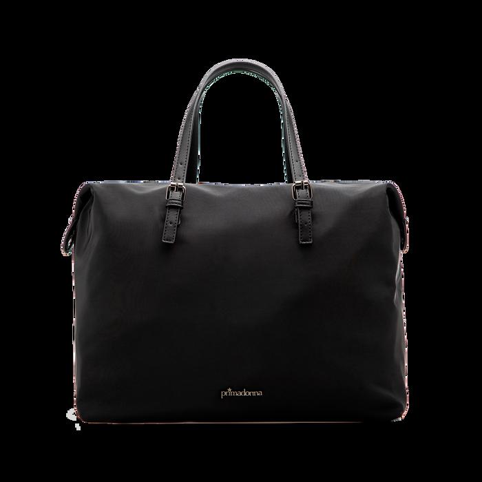 Borsa Maxi-Bag a mano nera in tessuto, Primadonna, 122300313TSNEROUNI
