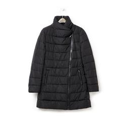 Piumino nero in nylon con chiusura asimmetrica, Abbigliamento, 146501208NYNEROXXL, 003 preview