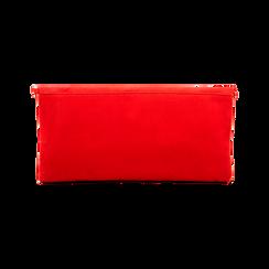 Pochette rossa in microfibra scamosciata, Borse, 123308714MFROSSUNI, 002 preview