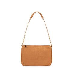 Petit sac porté épaule marron en microfibre, Sacs, 155127201MFMARRUNI, 001a