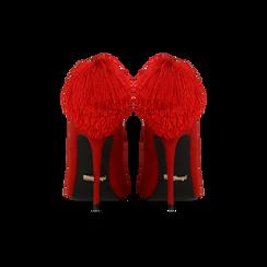 Décolleté rosse con pon-pon, tacco stiletto 11,5 cm, Primadonna, 122100530MFROSS036, 003 preview