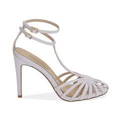 Sandali bianchi, tacco 10 cm , Primadonna, 172174211EPBIAN036, 001 preview