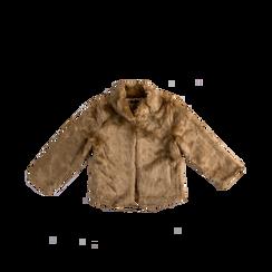 Pelliccia rosa nude corta eco-fur, manica lunga, Abbigliamento, 12B432301FUNUDE, 001a preview