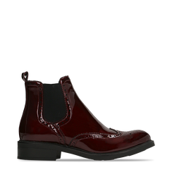 Chelsea Boots bordeaux vernice, lavorazione Duilio, 120618206VEBORD038, 001a
