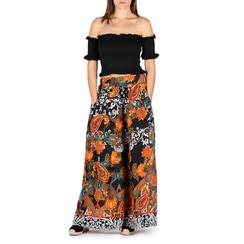 Pantaloni multicolor in tessuto painted print, Primadonna, 150500283TSARANUNI, 001a