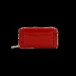 Portafoglio rosso in ecopelle vernice con 10 vani, Borse, 125709023VEROSSUNI, 001 preview