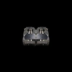 Sneakers grigie velluto e dettagli metal, Scarpe, 120127903VLGRIG, 003 preview