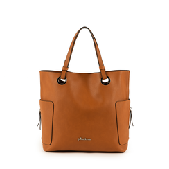 Maxi-bag color cuero, Bolsos, 153708276EPCUOIUNI, 001a