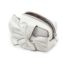 Camera bag bianca in eco-pelle con fiocco, Borse, 132300505EPBIANUNI, 004 preview