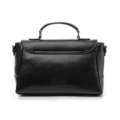Borsa media nera in eco-pelle, Borse, 14D903145EPNEROUNI, 003 preview