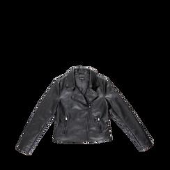 Chiodo nero ecopelle, Abbigliamento, 126500721EPNERO, 001a preview