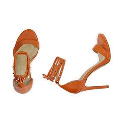 Sandali lace-up arancio, tacco 11 cm, Primadonna, 172133431EPARAN036, 003 preview