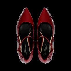 Décolleté rosse kitten heels in vernice, tacco 3 cm, Primadonna, 124951721VEROSS036, 004 preview