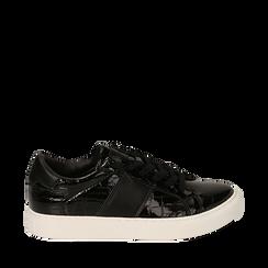 Zapatillas en charol color negro, Primadonna, 162619071VENERO035, 001a