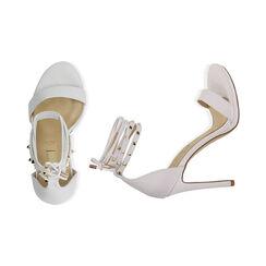 Sandali lace-up bianchi, tacco 11 cm, Primadonna, 172133431EPBIAN036, 003 preview