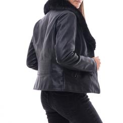 Giacca nera in eco-pelle, Abbigliamento, 146518259EPNERO3XL, 002a