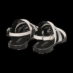 Sandali bianchi in eco-pelle, Saldi, 113006512EPBIAN036, 004 preview