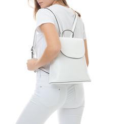 Zainetto bianco in eco-pelle minimal, Borse, 133783137EPBIANUNI, 002 preview