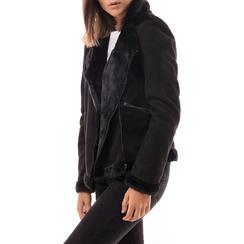 Giacca nera in microfibra, Abbigliamento, 146500413MFNERO3XL, 001 preview