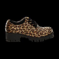 Stringate leopard in eco-cavallino ,